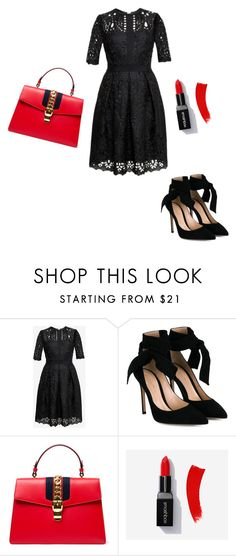 """""""Untitled #1"""" by elvira-jakubovic ❤ liked on Polyvore featuring Ted Baker, Gianvito Rossi and Gucci"""