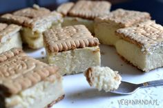 Jaglane mini napoleonki z trzech składników Sweet Desserts, Healthy Desserts, Sweet Recipes, Cake Recipes, Vegan Recipes, Cooking Recipes, Cooking Ideas, Vegan Cheesecake, Vegan Cake