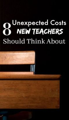 8 Unexpected Costs New Teachers Should Think About - with educational budgets stretched forever tightly teachers are left footing the bill for classroom supplies. Here are 8 unexpected costs students graduating from college might not be expecting. First Year Teachers, New Teachers, Going Back To School, Middle School, Classroom Supplies, Classroom Ideas, Teacher Salary, Classroom Management Tips, Teaching Resources
