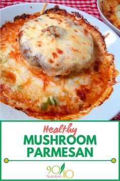 This healthy mushroom parmesan recipe uses portobello mushroom caps and real cheeses for an amazing dinner for Give it a try. Clean Dinners, Clean Eating Recipes For Dinner, Healthy Meals For One, Healthy Eating, Real Food Recipes, Cooking Recipes, Healthy Recipes, Cooking Blogs, Parmesan Recipes