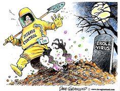 Dave Granlund cartoon on the return of the ebola virus.
