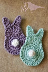 Crochet bunnies - would love to have a bunch in different colors to make a Easter wreath or garland