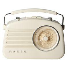 RADIO DE MESA RETRÔ - MARFIM