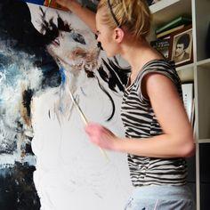 Olej na płótnie 110 x 110 cm