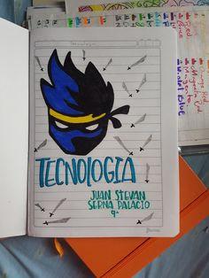 Cuaderno tecnología School Notes, Origami, Batman, Superhero, Fictional Characters, My Love, Frases, Science Notebooks, Cute Notebooks