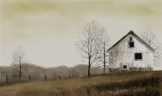 Billy Jacobs art ~ Lonely Barn