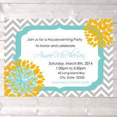 Housewarming invitation, modern housewarming invitation, house warming invite, new home party invite, PRINTABLE invitation, DIGITAL FILE