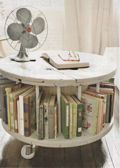 creative ideas for home furniture. finally a decent idea for my cable spools from old spool to new library table read more diy home decor crafts easy decorating craft ideas creative furniture