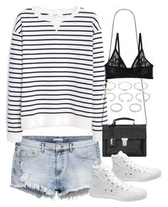 """""""Sin título #5117"""" by marym96 ❤ liked on Polyvore featuring H&M, MANGO, Yves Saint Laurent, Converse, Forever 21 and Monki"""