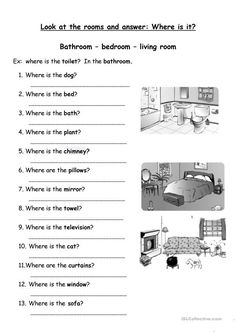 Parts of the house worksheet - Free ESL printable worksheets made by teachers English Games, English Activities, Learning Activities, English Grammar Worksheets, English Vocabulary, English Lessons, Learn English, Kids Part, Teaching Aids