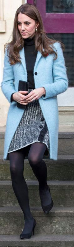 Kate Middleton wore a Mulberry Paddington coat
