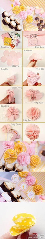Folding flowers - simple,