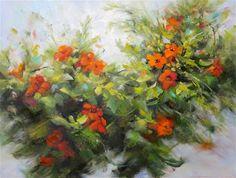 "Daily Paintworks - ""Trumpet Joy"" - Original Fine Art for Sale - © Pat Fiorello"