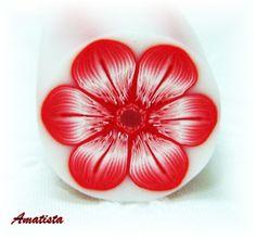 Murrina flor blanco-rojo | by el rincón de amatista