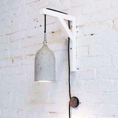 DIY concrete pendant light