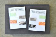 simple washi tape bookmarks.  great, easy gift idea.