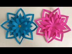 FLORES DE PAPEL. MANUALIDADES DE PAPEL. Paper flower. - YouTube