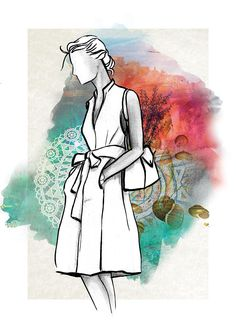 Ilustração de Luiz Wachelke para a coleção de verão Mistral da RenauxView inspirada na Croácia.