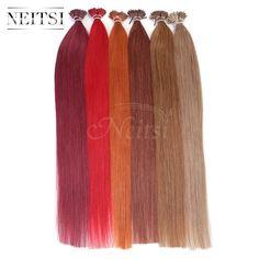 "Neitsi 20 ""ブラジルのremy人間の髪私ティップスティックヒントケラチン融合毛延長1グラム/セット50グラム100グラムストレートヘア16色オプション"