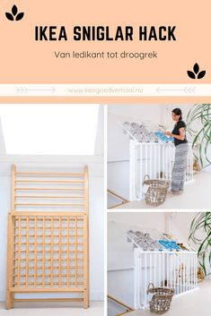 From Sniglar crib to drying rack - A good story - Ikea Hack! From Sniglar crib to drying rack rack - Funky Furniture, Rustic Furniture, Furniture Stores, Furniture Ideas, Ikea Hacks, Ikea Sniglar Crib, Small Appartment, Living Haus, Ikea Storage