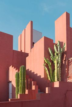La Muralla Roja, Alicante, Spain. Designed by Ricardo Bofill and built in 1973.