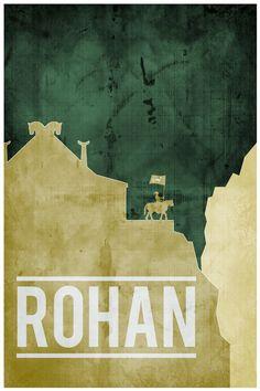 Lord of the Rings movie poster movie art film print LOTR art poster print 11x17 Rohan. $19.00, via Etsy.