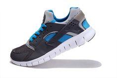 Fake Nike Huarache Free 2012 Runs Stealth Grey White Blue $49.63