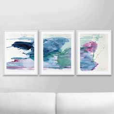 Abstract Art Print Set, Set of 3 Prints, Abstract Painting, Printable Abstract, instant download, Pink and blue art, 12x16 Prints, Wall art by DanHobdayArt on Etsy https://www.etsy.com/listing/534563195/abstract-art-print-set-set-of-3-prints