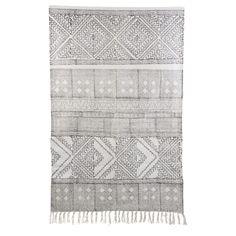 Spring matto, musta/valkoinen ryhmässä Matot / Matot / Puuvilla & Pellava @ ROOM21.fi (133012r)