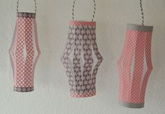 House No. 43: paper lantern - Papier Laterne DIY