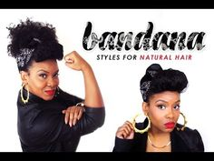 NATURAL HAIR | An Updo Styled with a Bandana - YouTube
