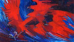 La gran parvada de los cuervos rojos (2013). Obra de Leopoldo Flores.