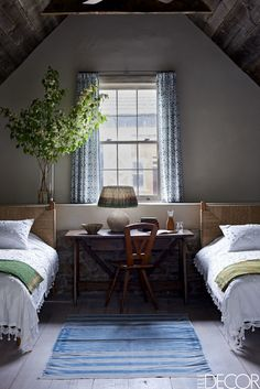 20 Ways To Make A Big Statement In A Small Bedroom  - ELLEDecor.com