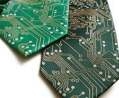 Whoever said that computer programmers don't have the best sense of style clearly never laid their eyes on the stunning and realistic computer circuit board tie. It's the tech savvy and fashionable accessory guaranteed to make you look like the million bucks you'll someday be worth after your Silicon Valley start-up hits it big. Made…