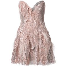 Trash Couture strapless full sequin mini dress (€6.890) ❤ liked on Polyvore featuring dresses, grey, short grey dress, short strapless dresses, grey dress, gray cocktail dress and gray dress