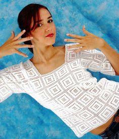 10 CAMISETAS ¡¡SUPER SENCILLAS!! CON ESQUEMAS PARA HACER EN CROCHET Todas éstas camisetas son prendas #Básicas para la Primavera y el Verano y como son ...