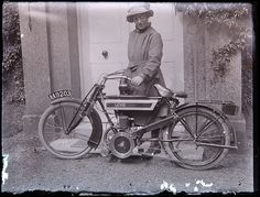 Early Levis motorcycle, c. 1915 by whatsthatpicture, via Flickr