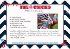 Table Talk from The 6 Chicks: Favorite Dish for 4th of July - Patriotic Slushies