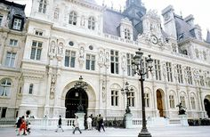 Hotel de Ville, Paris, France This is an amazing building in person.Photos do not do it justice Places Around The World, Oh The Places You'll Go, Places To Travel, Places To Visit, Around The Worlds, Paris Architecture, Architecture Details, Innovative Architecture, Vintage Architecture