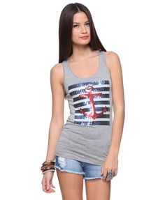 Sequin Anchor Racerback Top | FOREVER21 - 2000013625