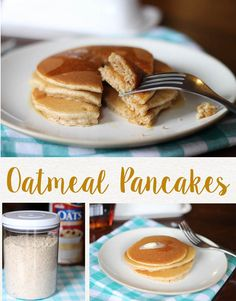 I LOVE this oatmeal pancake recipe. After using this hearty, flavorful recipe for pancake mix, I will never go back to plain pancakes again. It's also packed with good ingredients that keep you full longer.