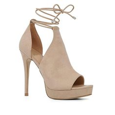 Aibarbie Women High Heel Peep Toe Synthetic Gladiator Sandals Beige US8 - Brought to you by Avarsha.com