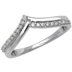 9ct white gold wishbone engagement ring RD568W