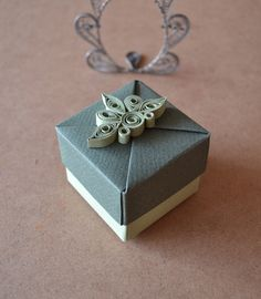 Origami Box with Quilled Ornament by ~ReverseCascade on deviantART