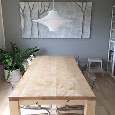DIY birch kitchen table. Oilwaxed and sanded with 1200 sand paper. Smooth as a babys butt.
