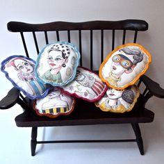 pillow art by Jess Quinn