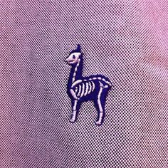 Lama embroidery skeleton