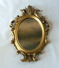 Vintage Baroque Gold Mirror Hollywood Regency by BeeHavenHome