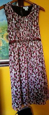 Motherhood Maternity Pink Purple Polka Dot Sleeveless Dress Size Large. Auction bidding start at $0.99