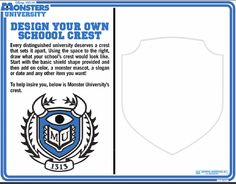 Design your very own #MonsterU crest and show your school spirit with your friends.